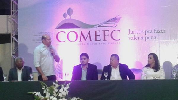 """Durante a solenidade de posse, o prefeito de Tufilândia, Dr Neto disse: """"O COMEFC é de todos nós """"."""