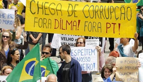 PROTESTO CONTRA DILMA, LULA E O PT.